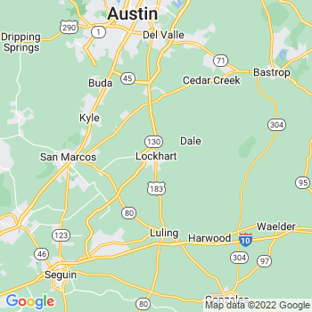 Map of Lockhart, TX