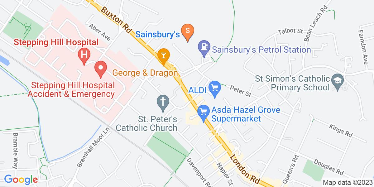 Google Map of London RoadHazel Grove Stockport SK7 4AW