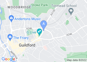 Map for G Live, Guildford