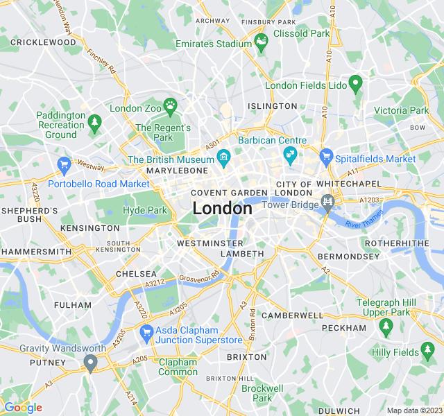Website Designer London Google map of location