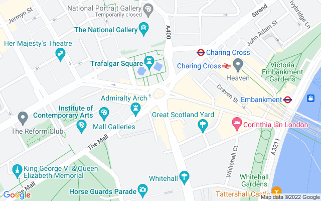 Show map of London