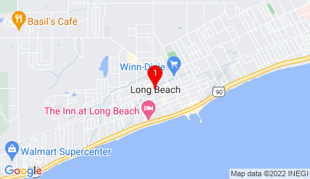 Google Map of Long Beach, MS 39560, USA