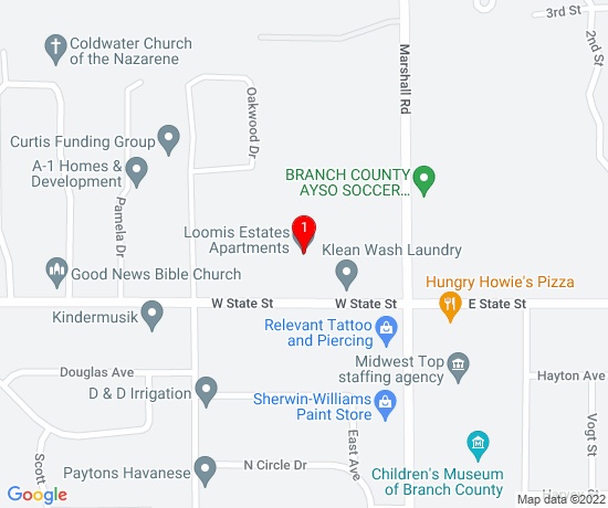 Google Map of Loomis Estates Apartments