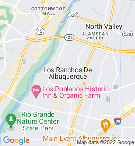 Los Ranchos De Albuquerque NM Map