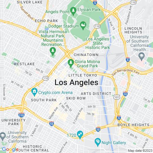 Google Map of Los Angeles, CA