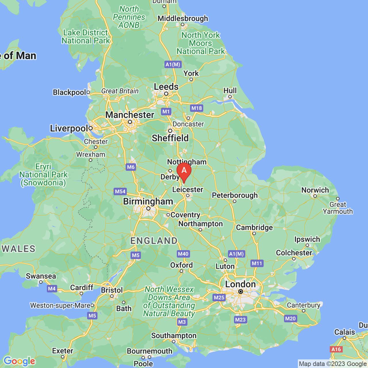 Loughborough, England Map