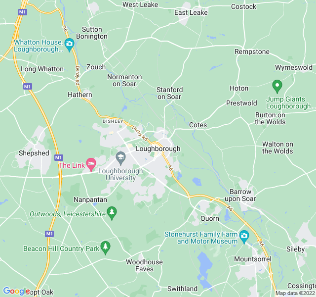 Website Designer Loughborough Google map of location