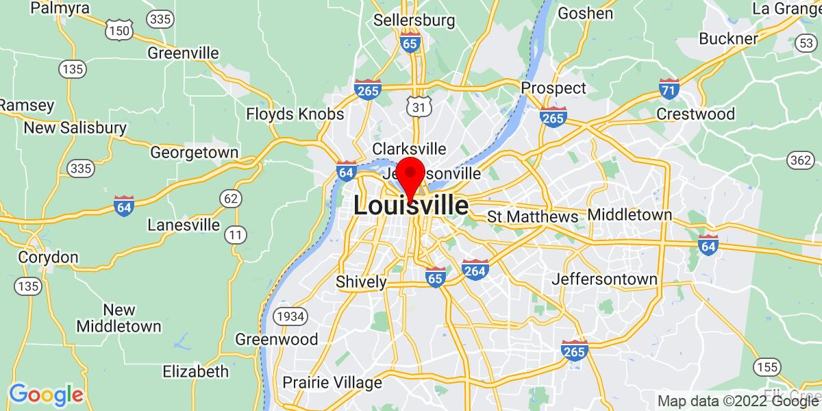 Google Map of Louisville, KY