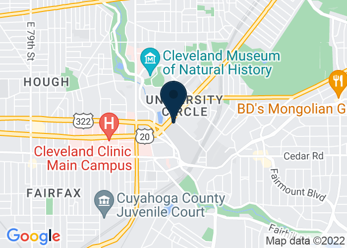 Map of Lower Level, Cleveland, OH 44106, United States