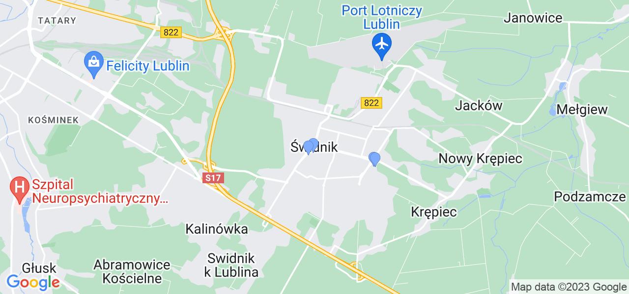Dostępne w Świdniku lokalizacje punktów nadania, z których możesz skorzystać, chcąc wysłać turbinę do regeneracji w największym serwisie w Polsce