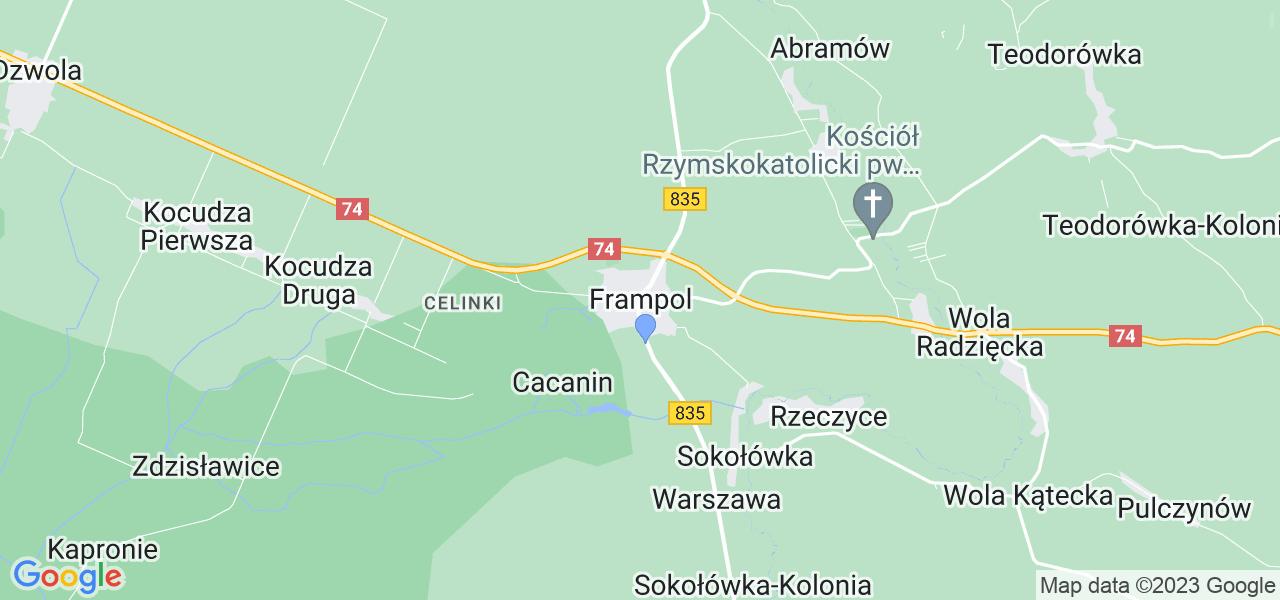 Dostępne w Frampolu lokalizacje punktów nadania, z których możesz skorzystać, chcąc wysłać turbinę do regeneracji w największym serwisie w Polsce