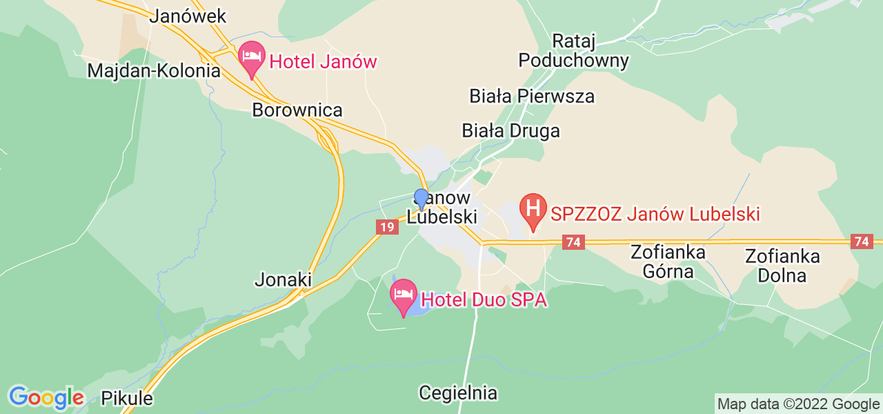 Dostępne w Janowie Lubelskim lokalizacje punktów nadania, z których możesz skorzystać, chcąc wysłać turbinę do regeneracji w największym serwisie w Polsce