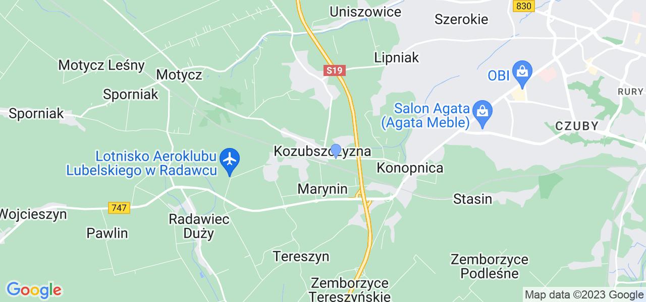 Dostępne w Kozubszczyznie lokalizacje punktów nadania, z których możesz skorzystać, chcąc wysłać turbinę do regeneracji w największym serwisie w Polsce