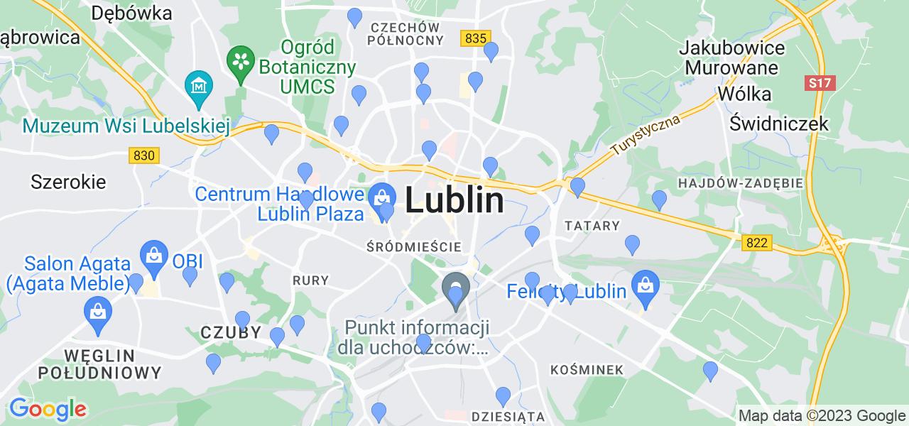 Dostępne w Lublinie lokalizacje punktów nadania, z których możesz skorzystać, chcąc wysłać turbinę do regeneracji w największym serwisie w Polsce