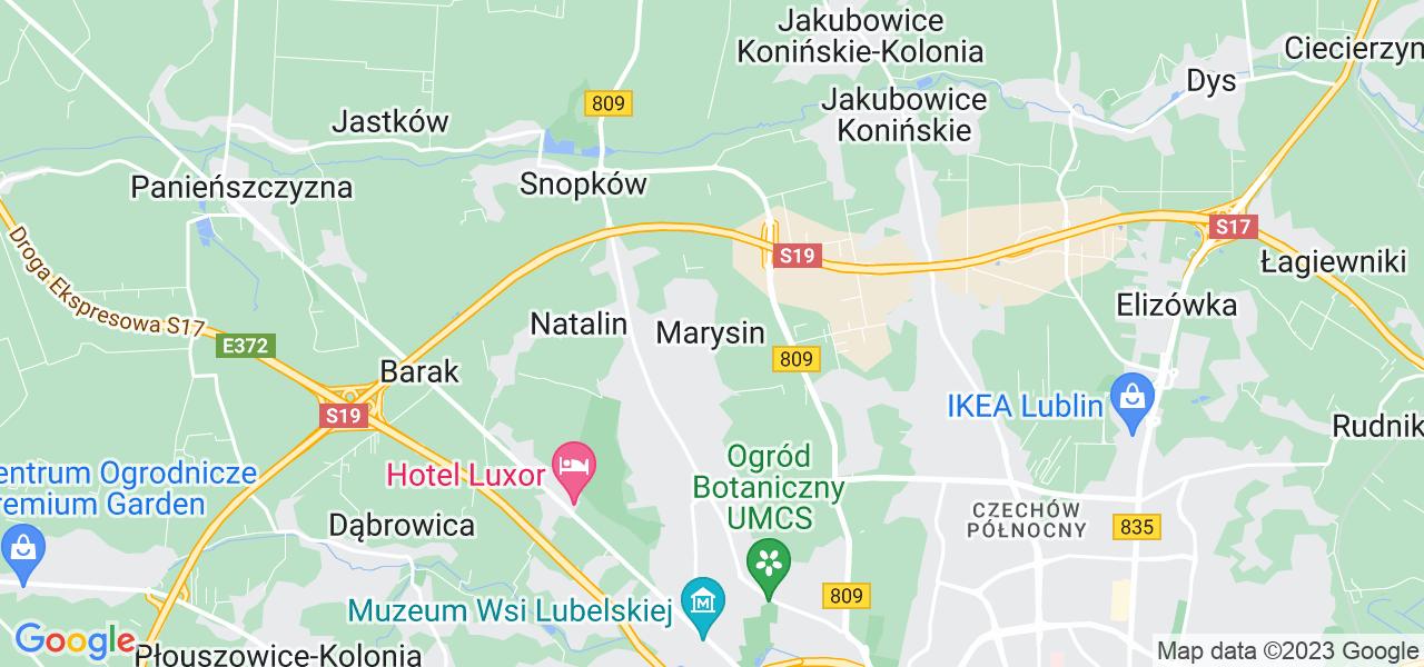 Dostępne w Marysinie lokalizacje punktów nadania, z których możesz skorzystać, chcąc wysłać turbinę do regeneracji w największym serwisie w Polsce