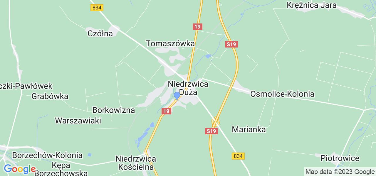 Dostępne w Niedrzwicy Dużej lokalizacje punktów nadania, z których możesz skorzystać, chcąc wysłać turbinę do regeneracji w największym serwisie w Polsce