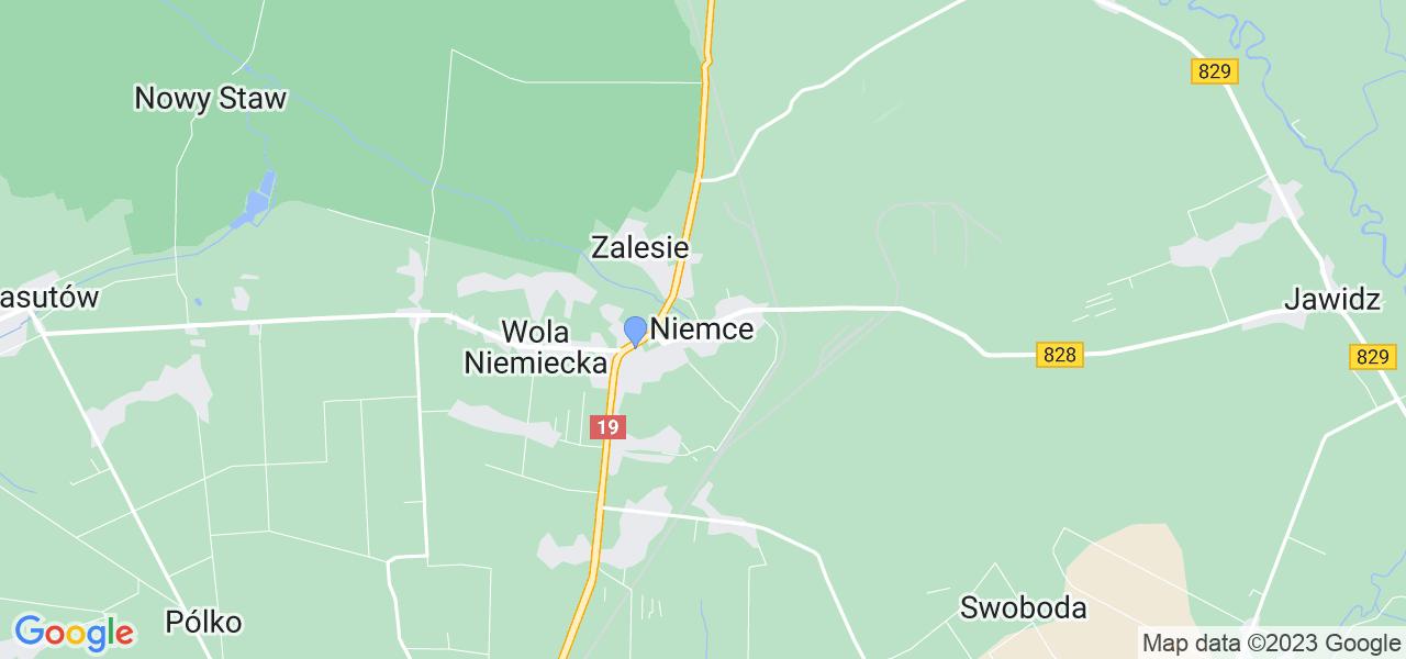 Dostępne w Niemcach lokalizacje punktów nadania, z których możesz skorzystać, chcąc wysłać turbinę do regeneracji w największym serwisie w Polsce