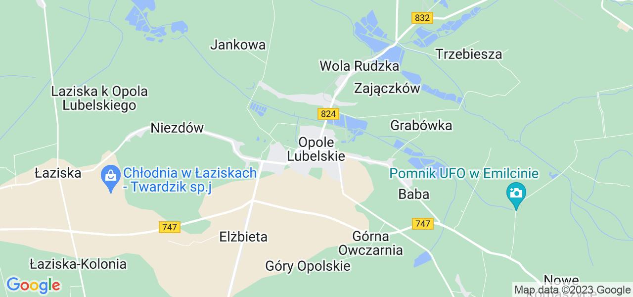 Dostępne w Opolu Lubelskim lokalizacje punktów nadania, z których możesz skorzystać, chcąc wysłać turbinę do regeneracji w największym serwisie w Polsce