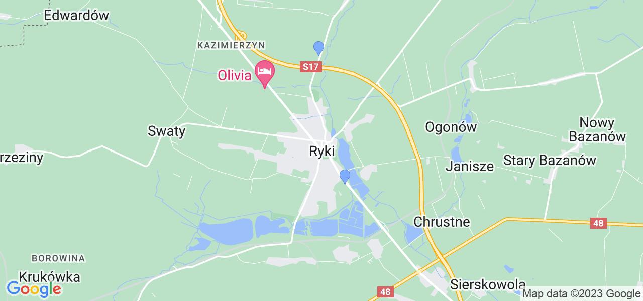 Dostępne w Rykach lokalizacje punktów nadania, z których możesz skorzystać, chcąc wysłać turbinę do regeneracji w największym serwisie w Polsce