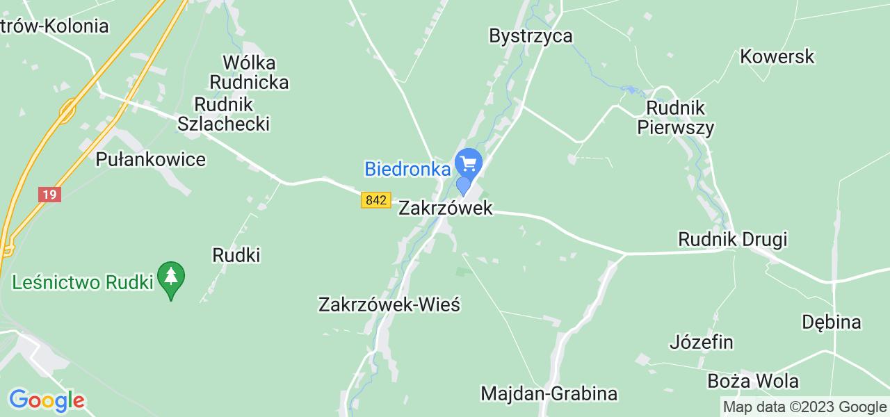 Dostępne w Zakrzówku lokalizacje punktów nadania, z których możesz skorzystać, chcąc wysłać turbinę do regeneracji w największym serwisie w Polsce