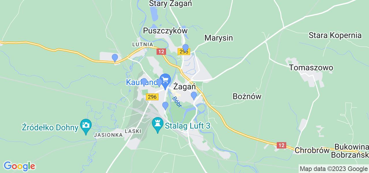 Dostępne w Żaganiu lokalizacje punktów nadania, z których możesz skorzystać, chcąc wysłać turbinę do regeneracji w największym serwisie w Polsce