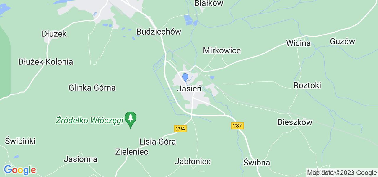 Dostępne w Jasieniu lokalizacje punktów nadania, z których możesz skorzystać, chcąc wysłać turbinę do regeneracji w największym serwisie w Polsce