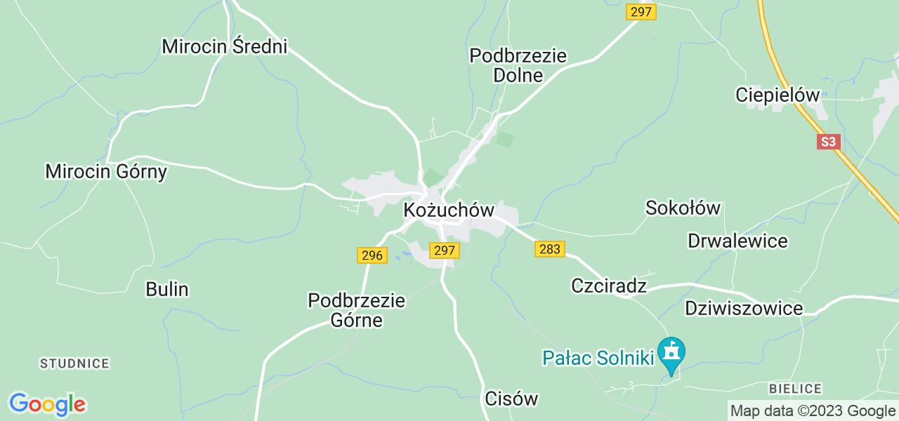 Dostępne w Kożuchowie lokalizacje punktów nadania, z których możesz skorzystać, chcąc wysłać turbinę do regeneracji w największym serwisie w Polsce