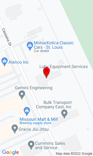 Google Map of Luby Equipment Services 2300 Cassens Drive, Fenton, MO, 63026