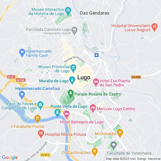 Mapa redondo Lugo
