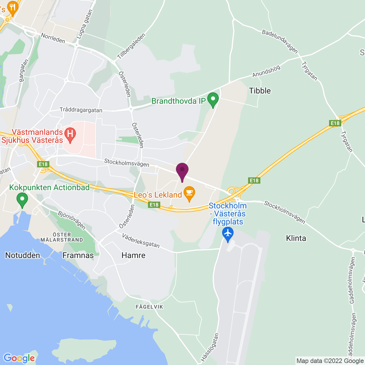 Map of Lundby Gårdsgata