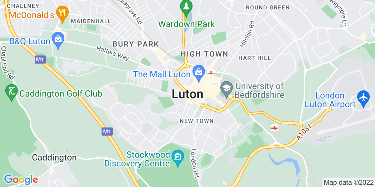 Map: Band 6 CPN job role in Luton