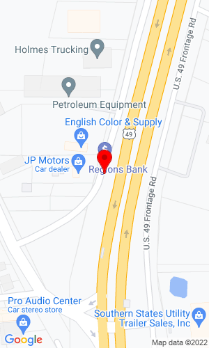 Google Map of Lyle Machinery Co. 650 Highway 49 South, Richland/Jackson, MS, 39218,