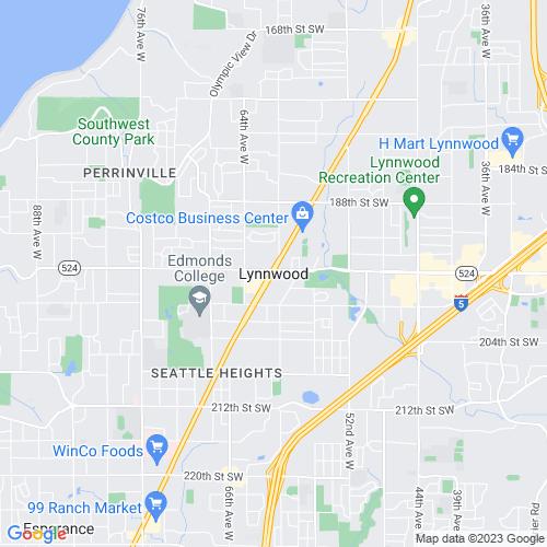 Map of Lynnwood, WA