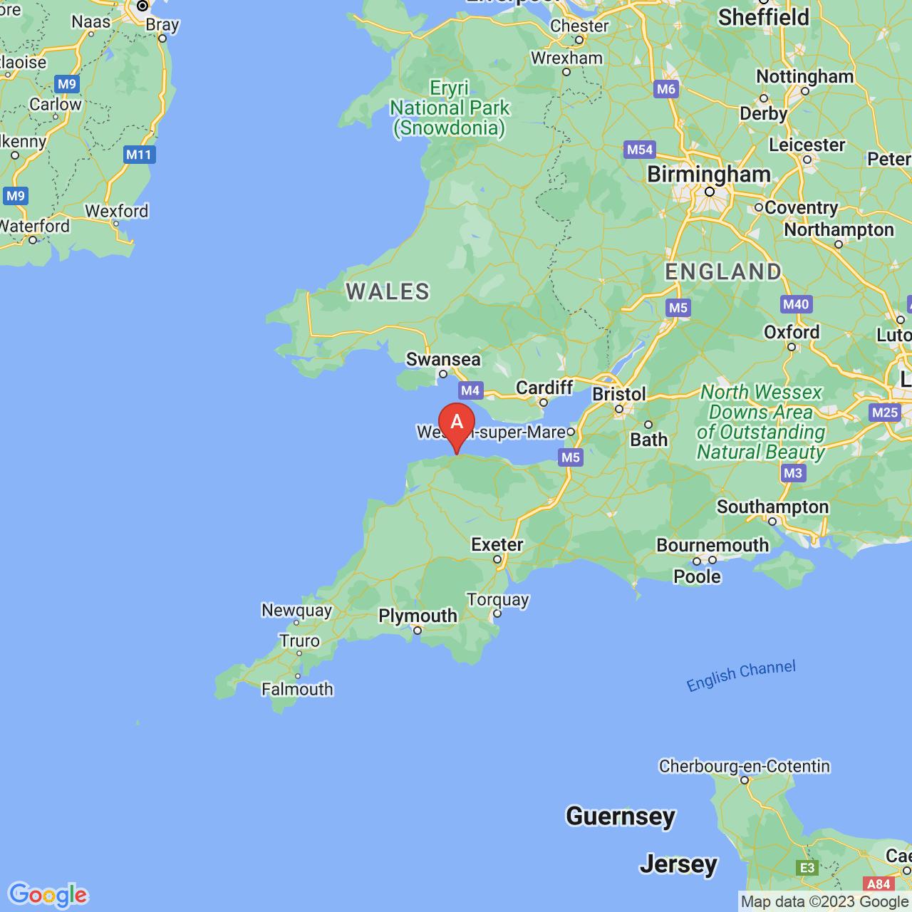 Lynton, England Map