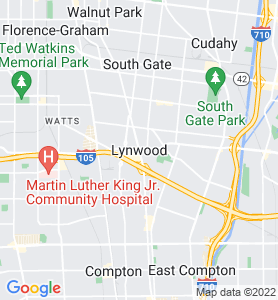 Lynwood CA Map