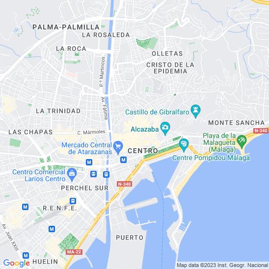 Mapa redondo Málaga