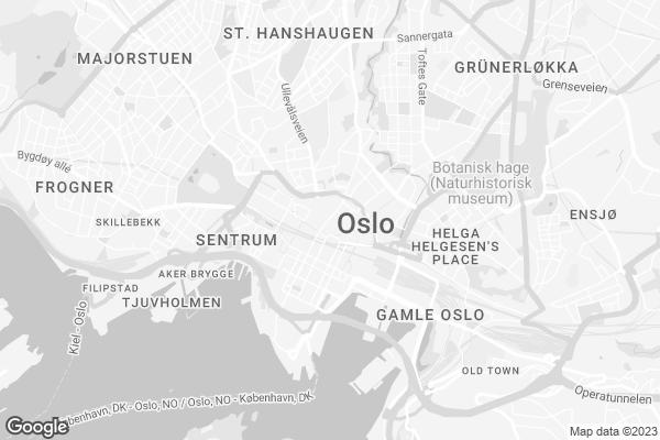 Google Map of Møllergata 8, 0179 Oslo, Norge