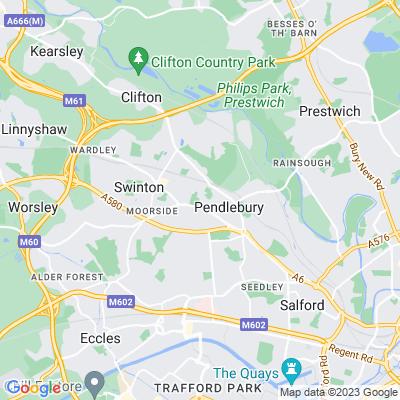 Victoria Park, Salford Location