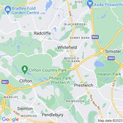 Philips Park, Bury Location