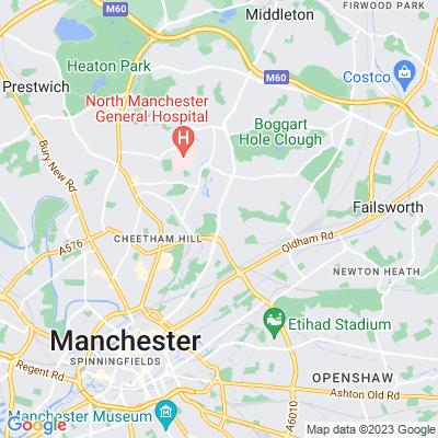 Queen's Park, Manchester Location