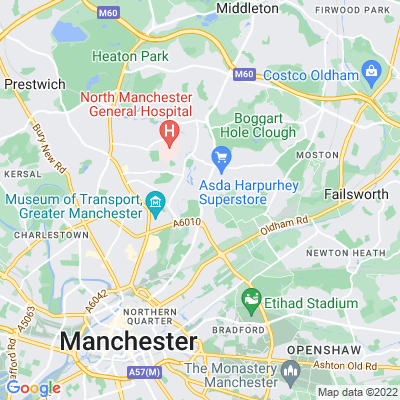 Manchester General Cemetery Location