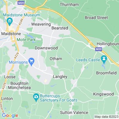 Stoneacre, Otham Location