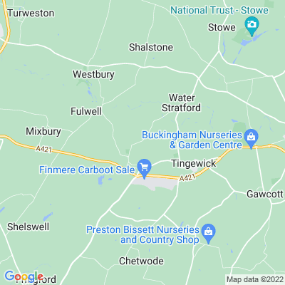 Finmere Rectory Location