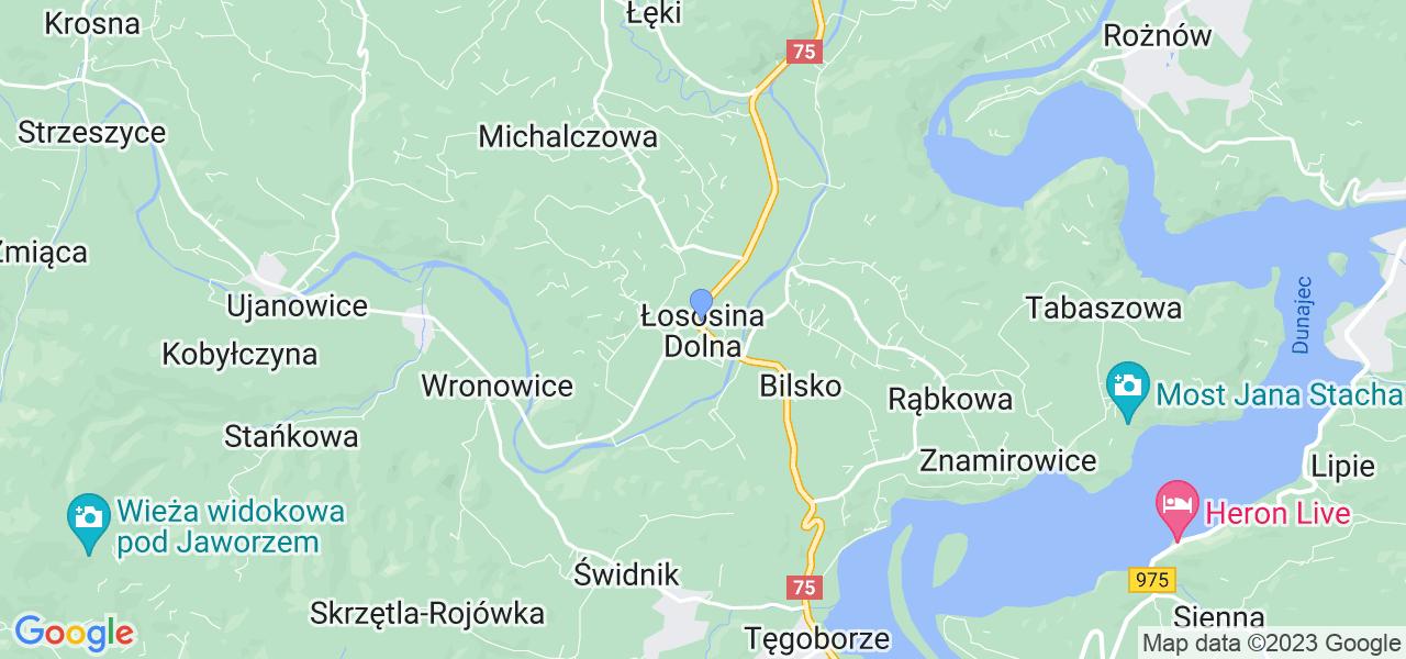 Dostępne w Łososinie Dolnej lokalizacje punktów nadania, z których możesz skorzystać, chcąc wysłać turbinę do regeneracji w największym serwisie w Polsce
