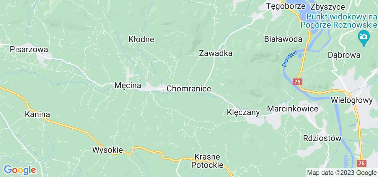 Dostępne w Chomranicach lokalizacje punktów nadania, z których możesz skorzystać, chcąc wysłać turbinę do regeneracji w największym serwisie w Polsce