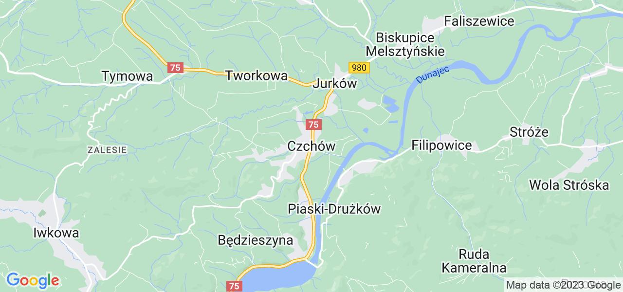 Dostępne w Czchowie lokalizacje punktów nadania, z których możesz skorzystać, chcąc wysłać turbinę do regeneracji w największym serwisie w Polsce