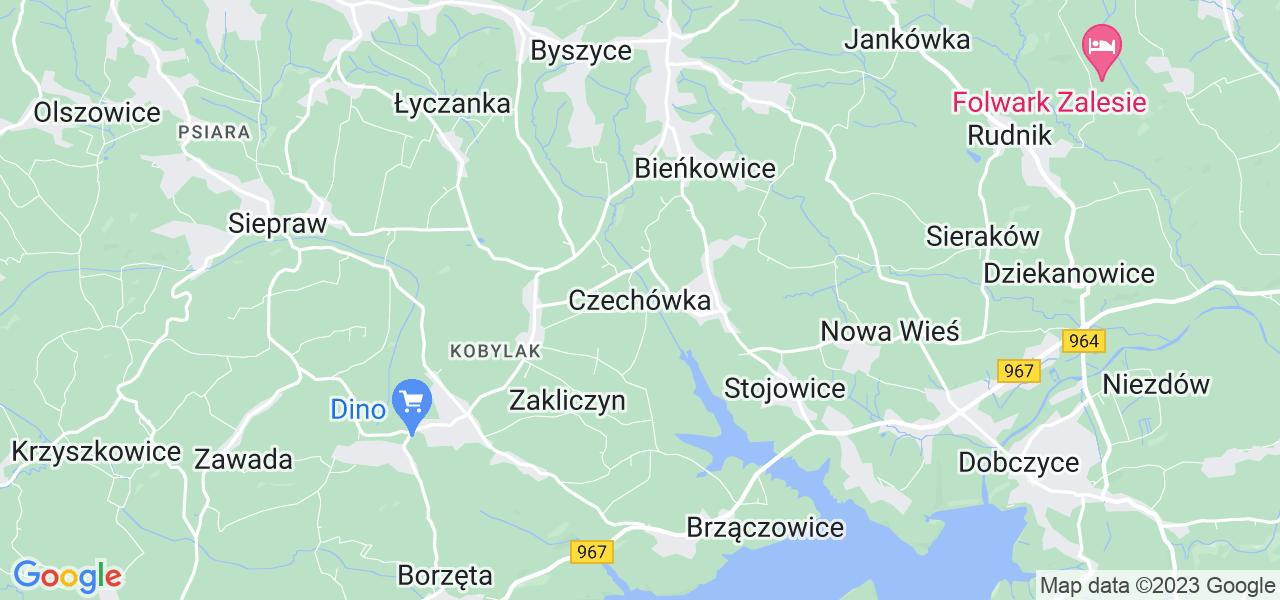 Dostępne w Czechówce lokalizacje punktów nadania, z których możesz skorzystać, chcąc wysłać turbinę do regeneracji w największym serwisie w Polsce
