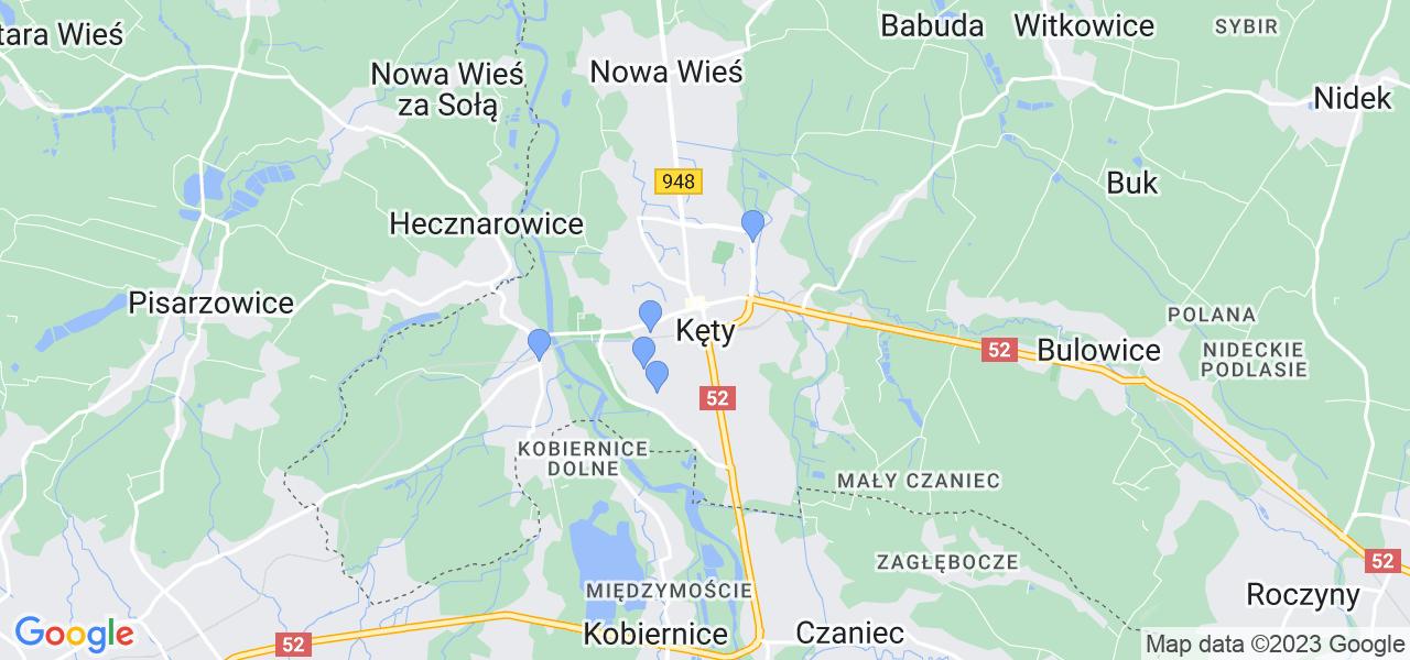 Dostępne w Kętach lokalizacje punktów nadania, z których możesz skorzystać, chcąc wysłać turbinę do regeneracji w największym serwisie w Polsce