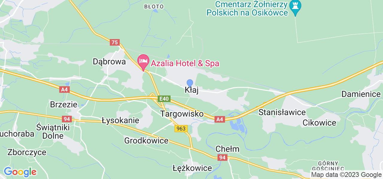 Dostępne w Kłaju lokalizacje punktów nadania, z których możesz skorzystać, chcąc wysłać turbinę do regeneracji w największym serwisie w Polsce