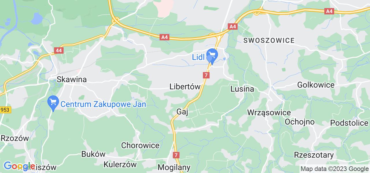 Dostępne w Libertowie lokalizacje punktów nadania, z których możesz skorzystać, chcąc wysłać turbinę do regeneracji w największym serwisie w Polsce